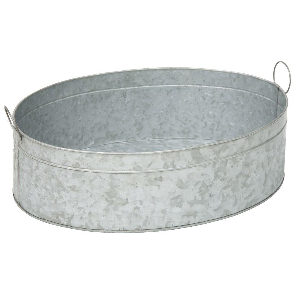 TUB, ICE, GALVANIZED, OVAL