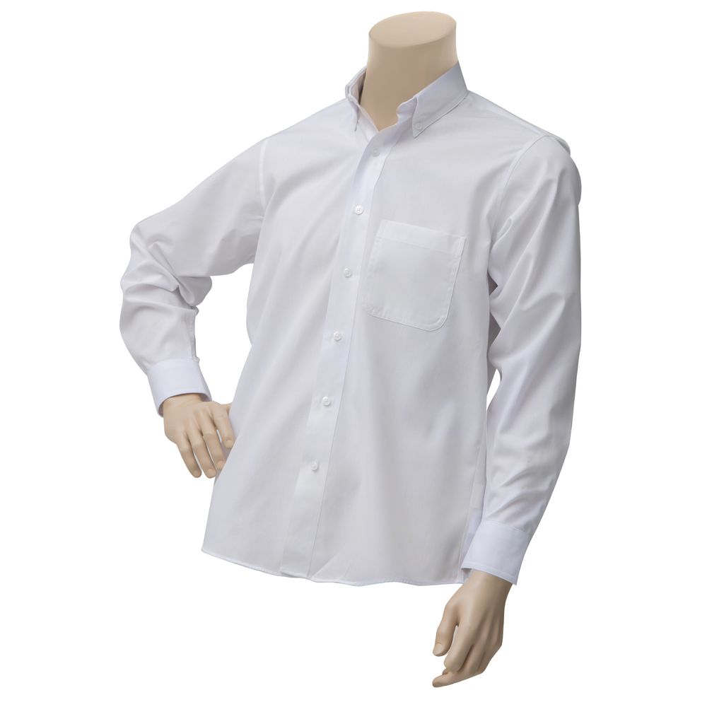 SHIRT, DRESS, MEN'S, LNG SLVE, WHITE, MED