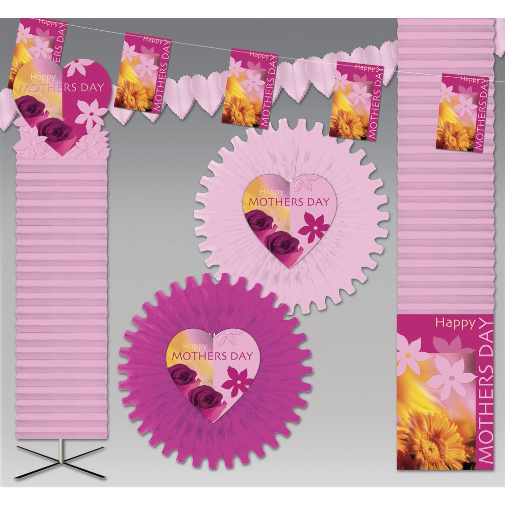 Decorations Kit Mothers Day Deluxe Pink 6000 Sq Ft Crepe