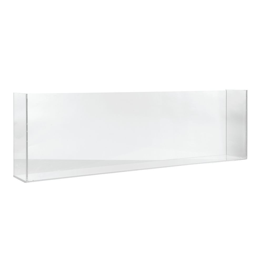 """DIVIDER, CLEAR SOLID 30X9X4""""W/SIDES"""