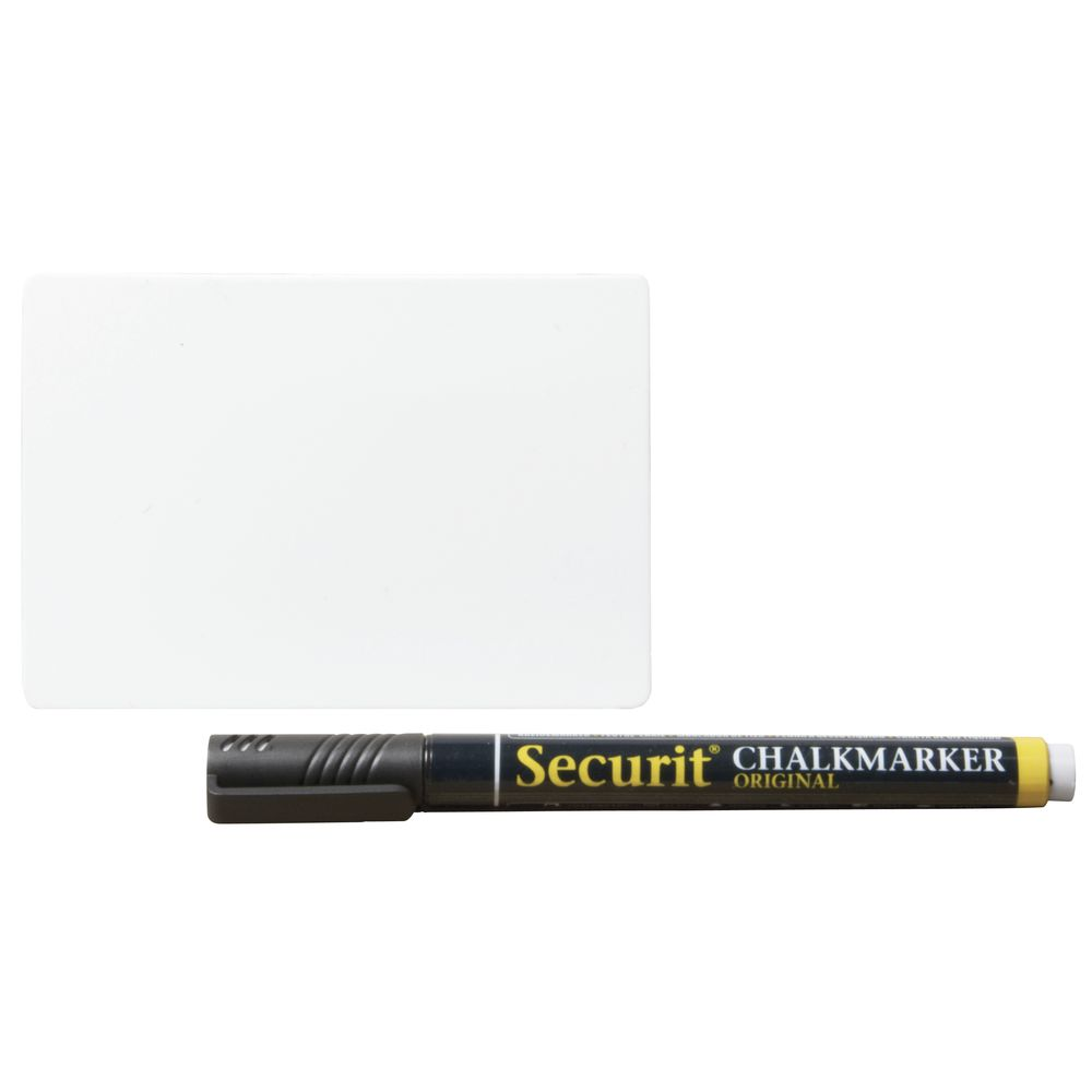 """TAGS, WHITEBOARD, SECURIT, 3""""X2.25"""", ST/20"""