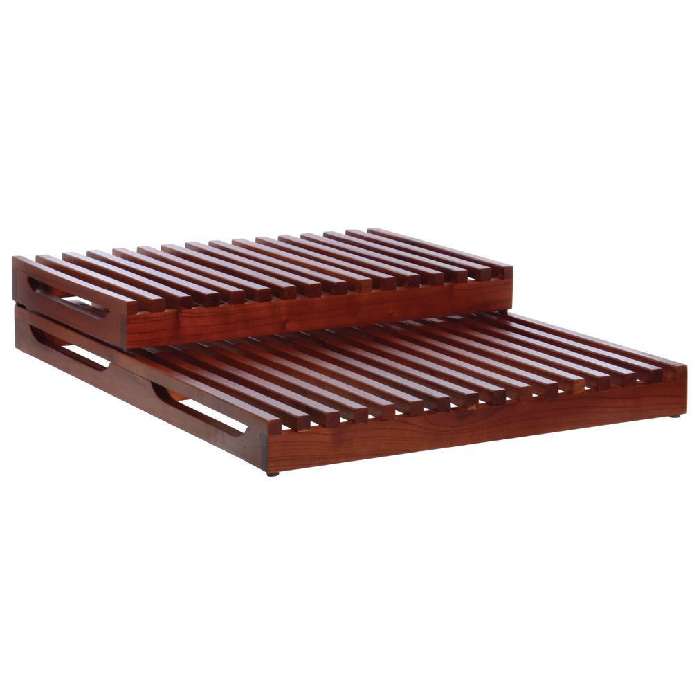 RISER, SET, 2-STEP, SLATTED;MAHOGANY