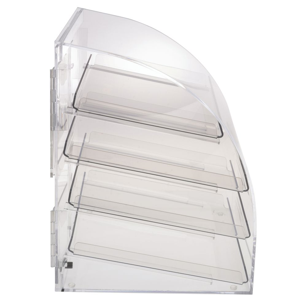 SERVE-CASE W/4 TRAYS, CURVED FRONT