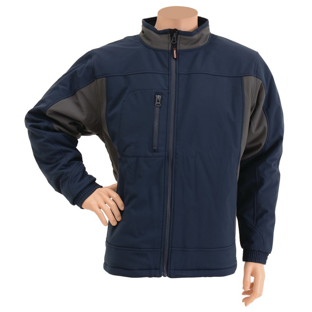 JACKET, INSULATED, NAVY, 3XL, SOFTSHELL