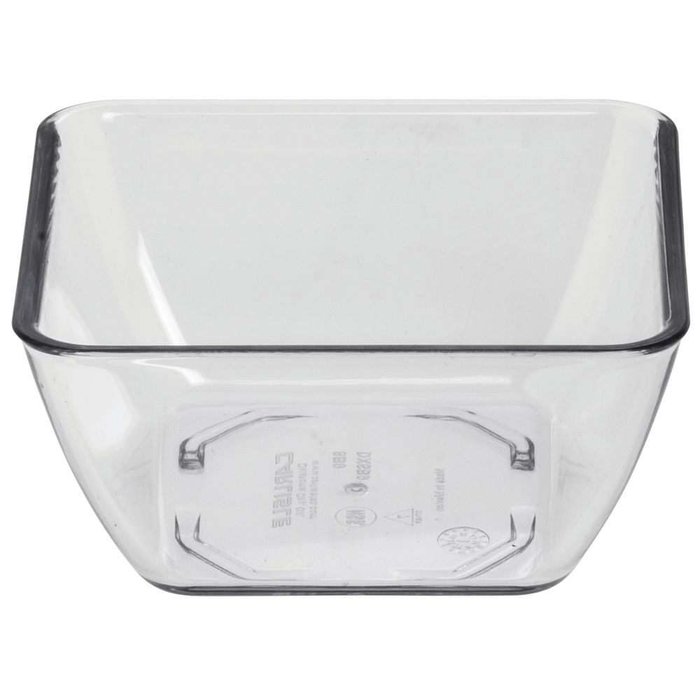 BOWL, SQUARE, 12 OZ, CLEAR
