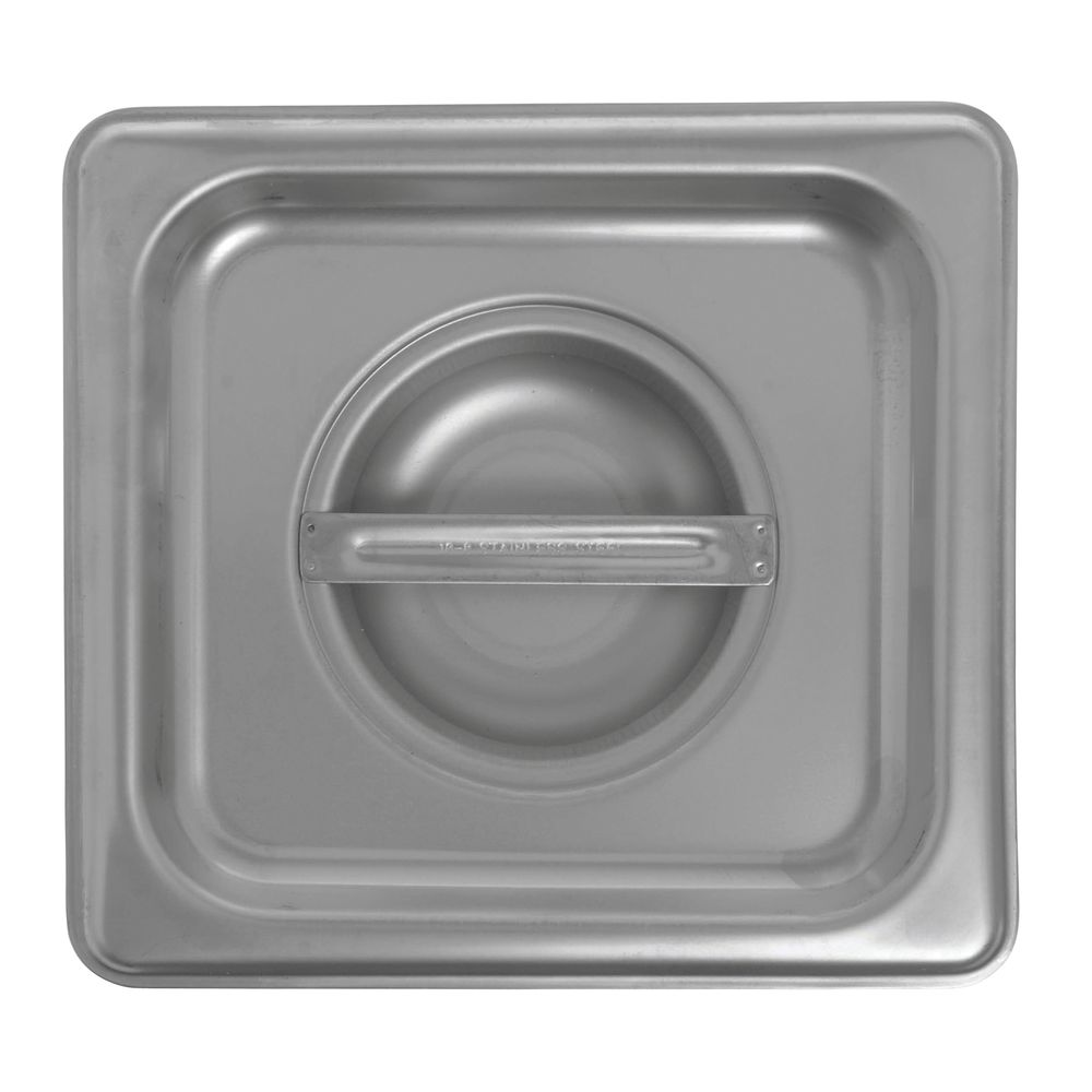 Sixth Size Stainless Steel Food Pan Lid is Sturdy