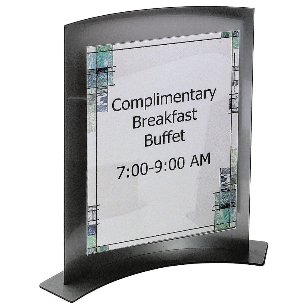Counter Top Sign Holder Displays Large Inserts