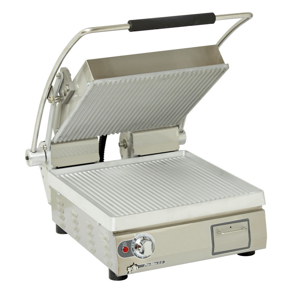 GRILL, PANINI, ELECTRIC, GROOVED, PLATES