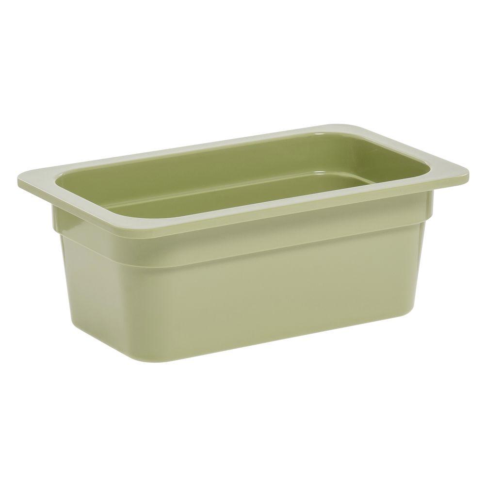 """Expressly Hubert® Quarter Size Melamine Pan 4""""D Willow Green"""