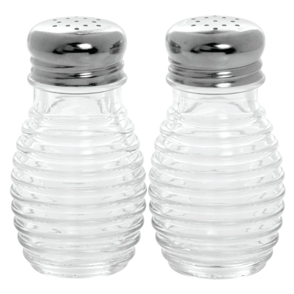 Tablecraft 2 Oz Clear Glass Beehive Salt And Pepper Shaker With