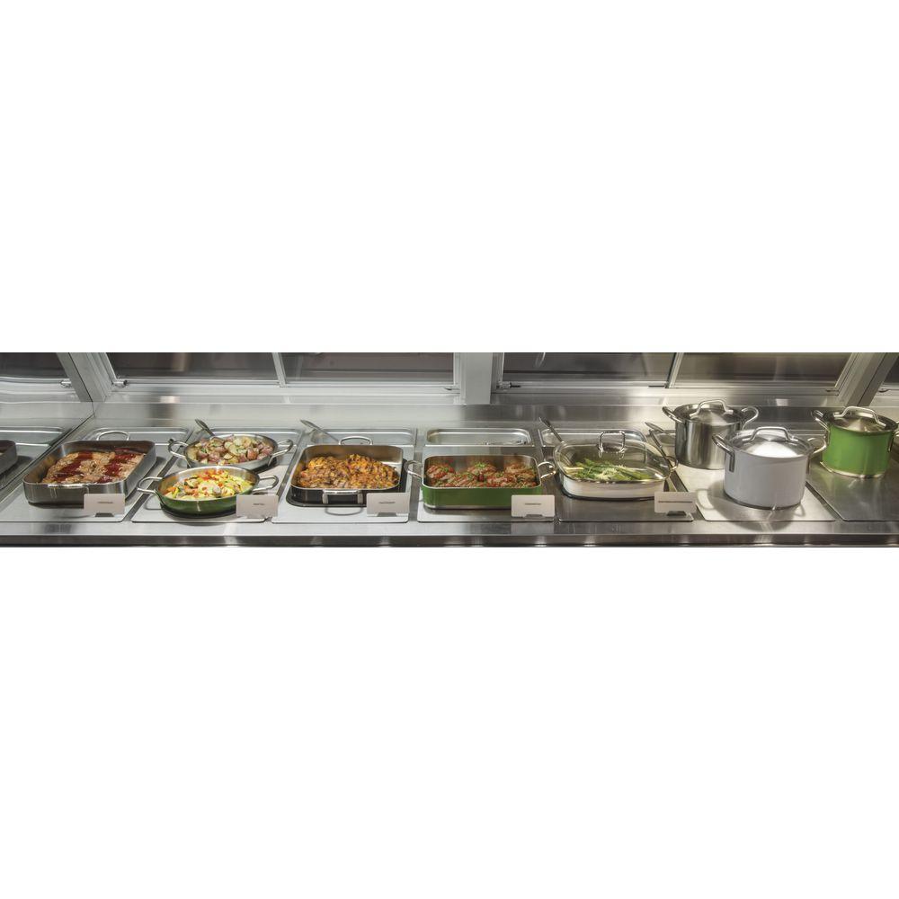 HUBERT® Full Size Stainless Steel Food Bar Tile