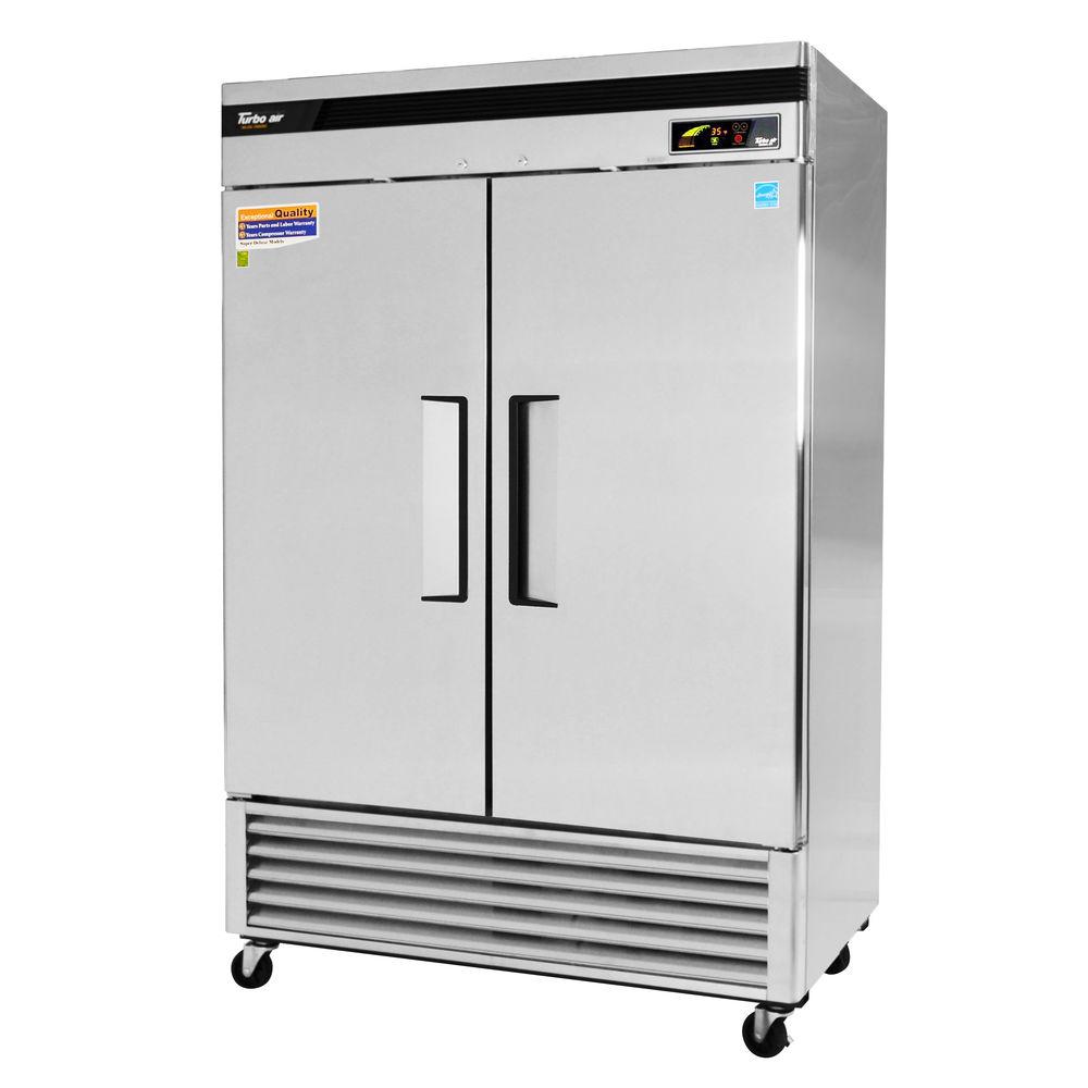 Turbo Air 42.69 cu ft 2 Door Reach-In Bottom Mount Super Deluxe Refrigerator