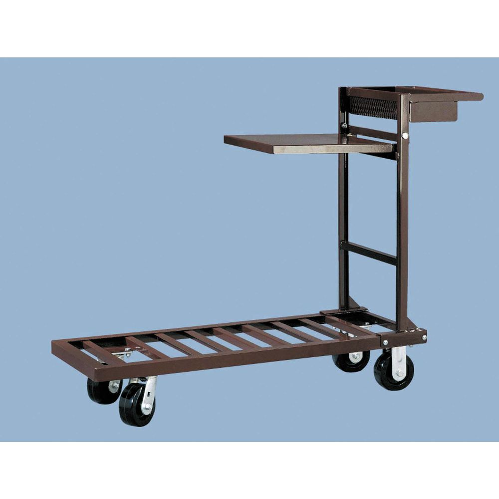 HUBERT Brown Coated Steel 4-Wheel Platform Utility Cart - 51L x 18W ...