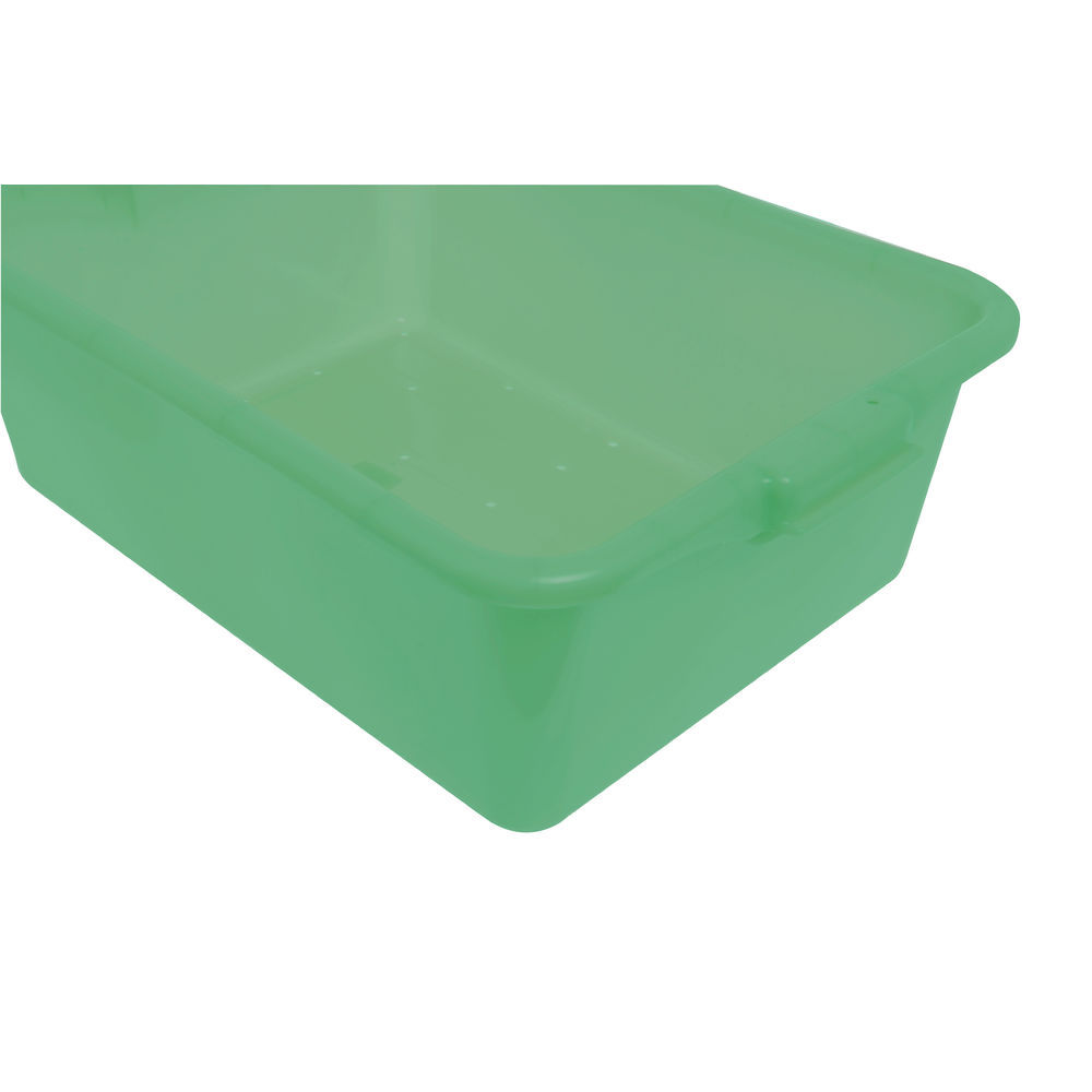 "Food Boxes Perforated 20""L x 15""D x 7""H Green"