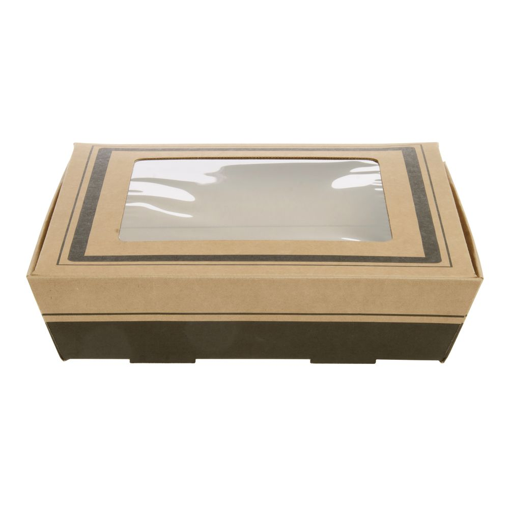 Square Kraft Catering Tray With Window Lid - 15