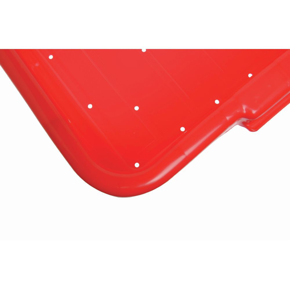 """Food Boxes Perforated 20""""L x 15""""D x 7""""H Red"""
