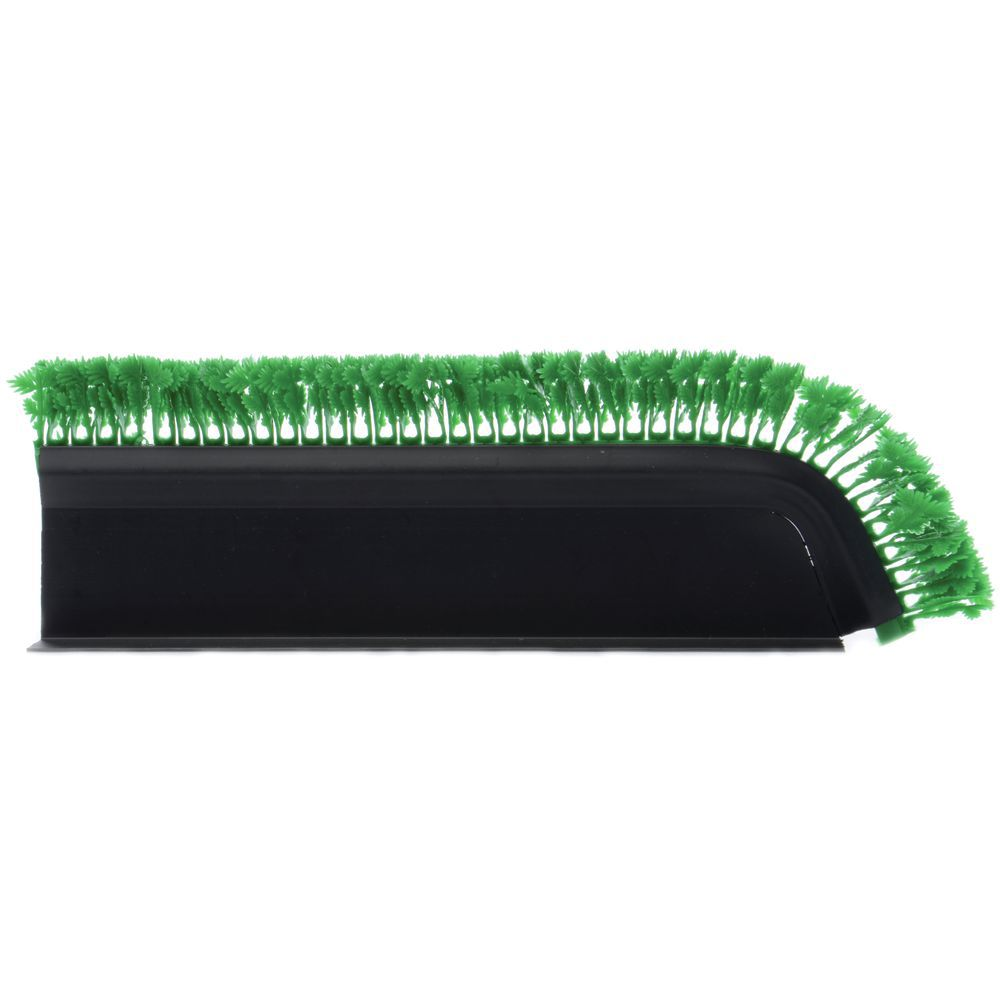 "Angled Black T-Shaped Plastic Divider With Green Parsley 16""L x 4 1/2""H"