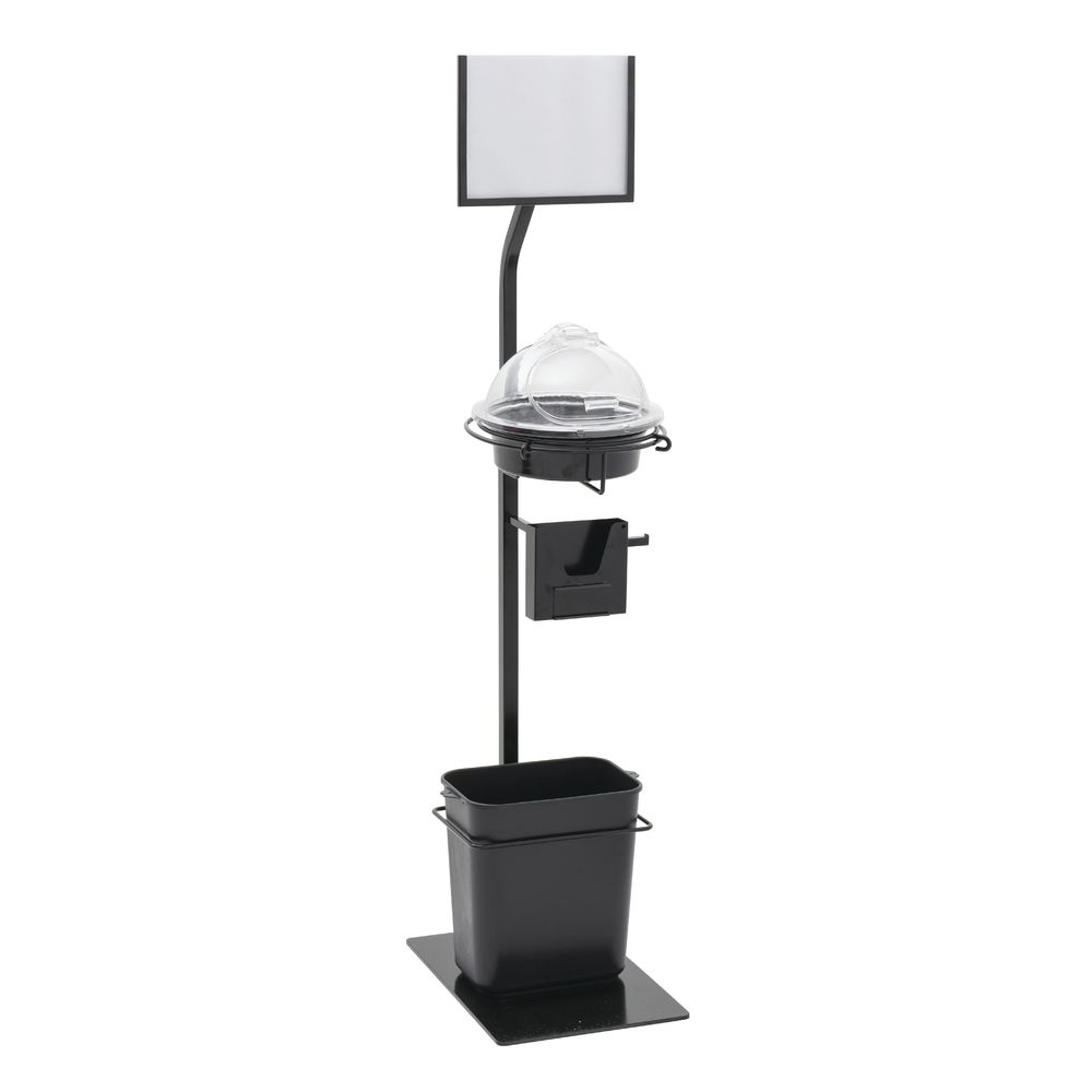 """STAND, SAMPLE, 10""""DIA, W/SIGN FRAME + ADAP"""