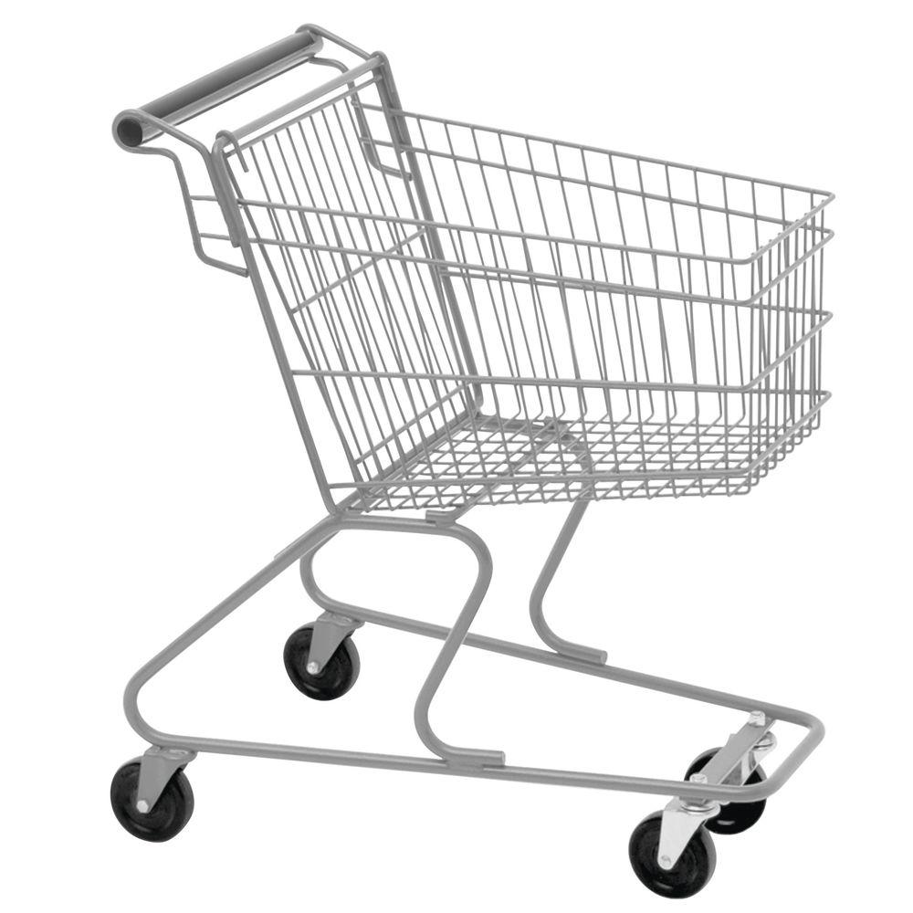 "Technibilt Grey Metal Child's Shopping Cart - 22""L x 14""W x 25""H"