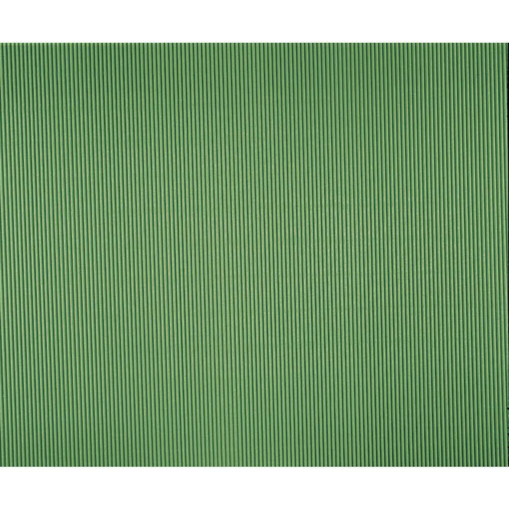 """Corobuff Counterwrap Apple Green 25'L x 48""""W Corrugated Paper"""