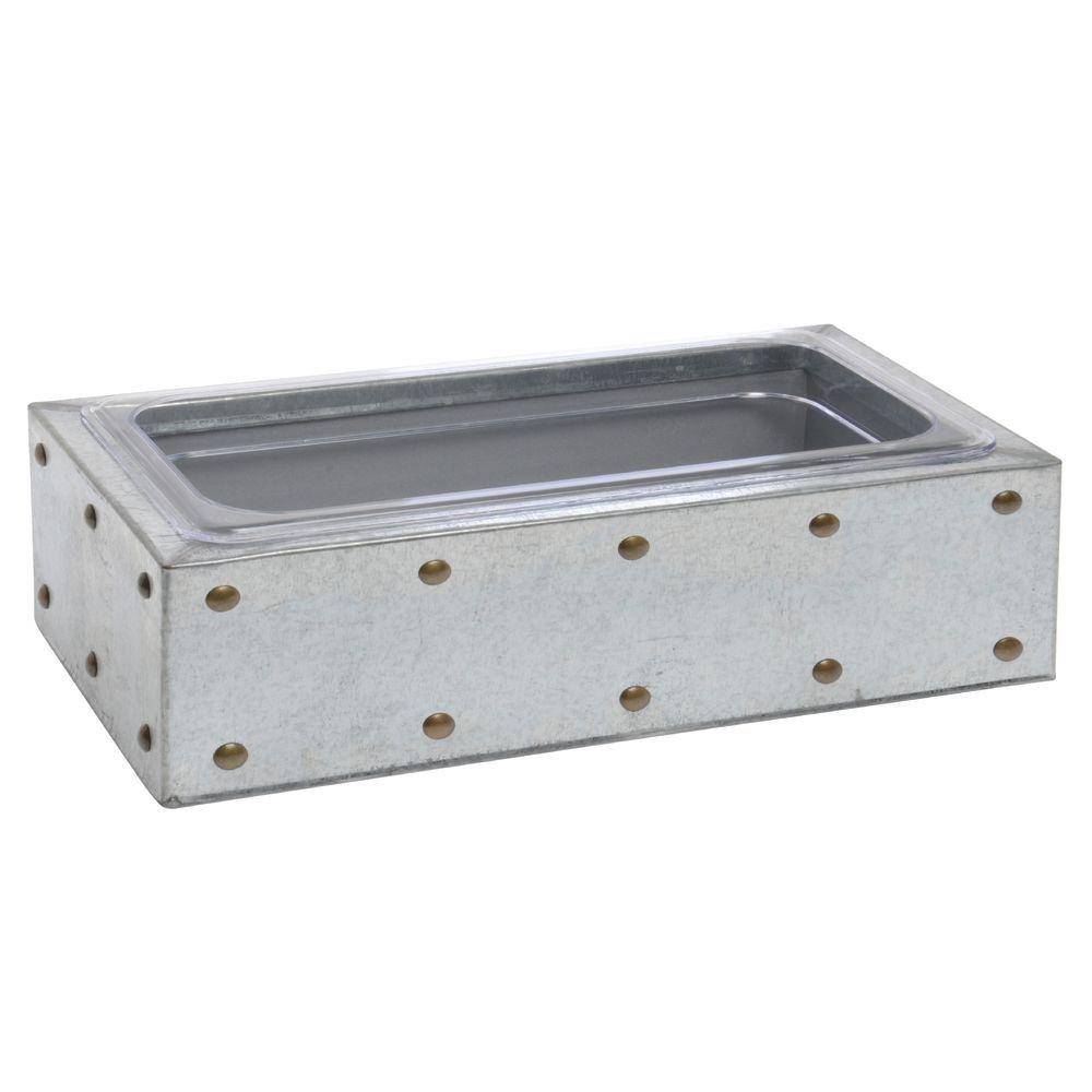 "|||Galvanized Chic Box 1/2 Size 4 1/2""D"
