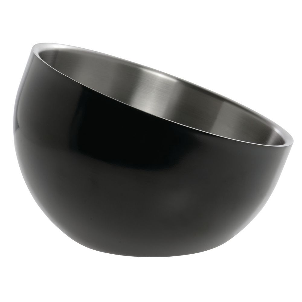 BOWL, DW, BLACK, INCLINE, 7X5.5X3, STAINLESS