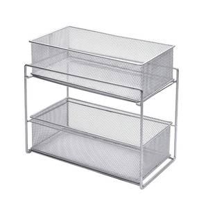 BASKETS, MSH CABINET, SILVER, 7.5X13.8X12.5