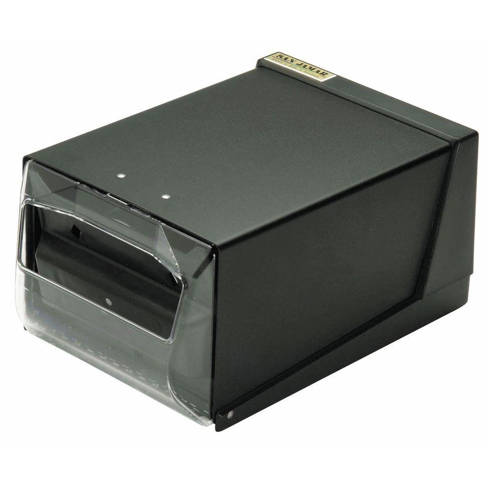"San Jamar Countertop Napkin Dispenser 7 5/8""W x 11""D x 5 1/2""H Clear/Black"