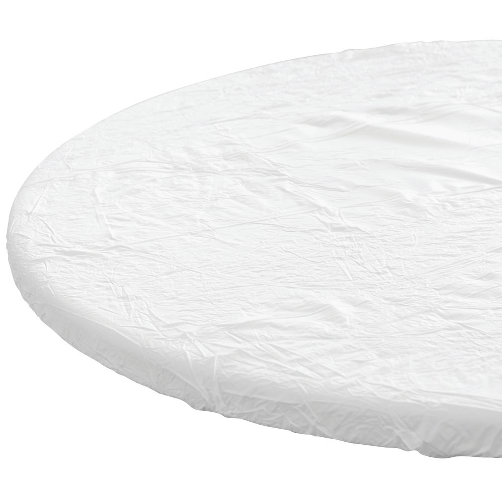Kwik Covers C Round White Plastic Disposable Table Cover 60