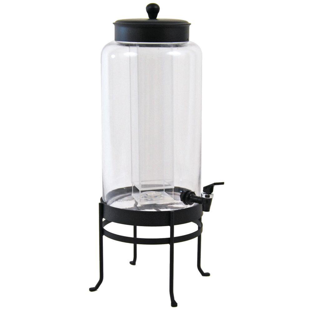 3 Gallon Drink Dispenser in Black