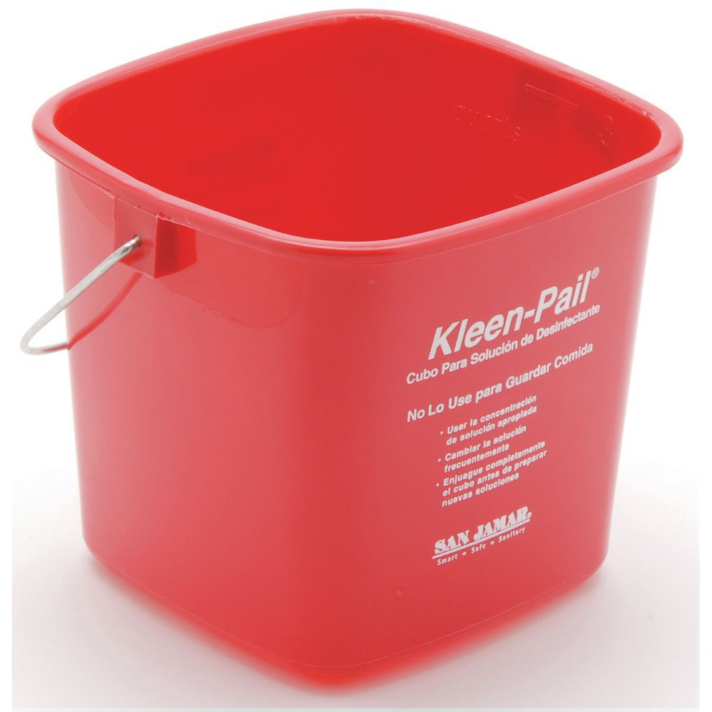 Small Plastic Buckets include Measurement Markings for Easy Mixing