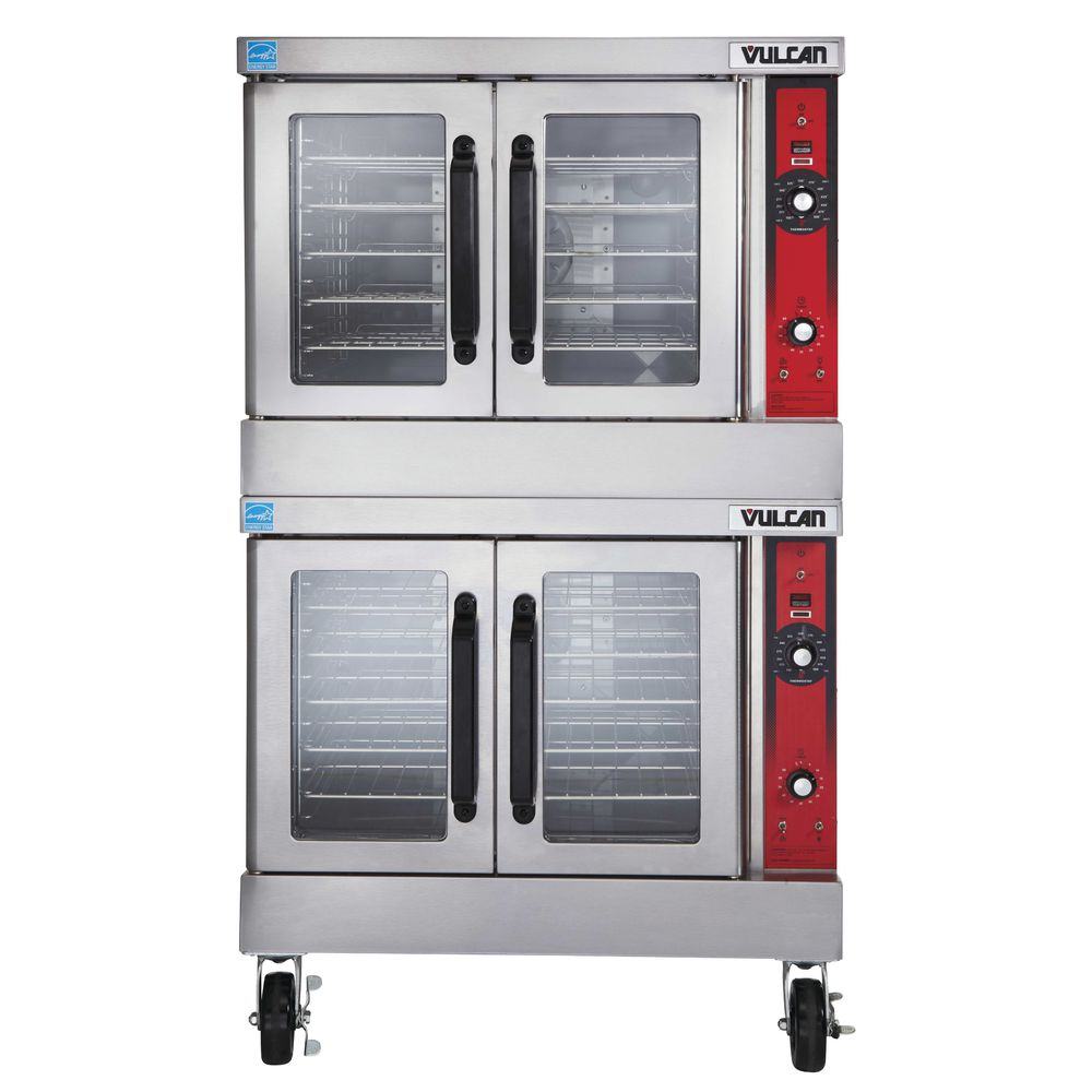 Vulcan VC44GD-NAT Double Deck Natural Gas Convection Oven With Casters
