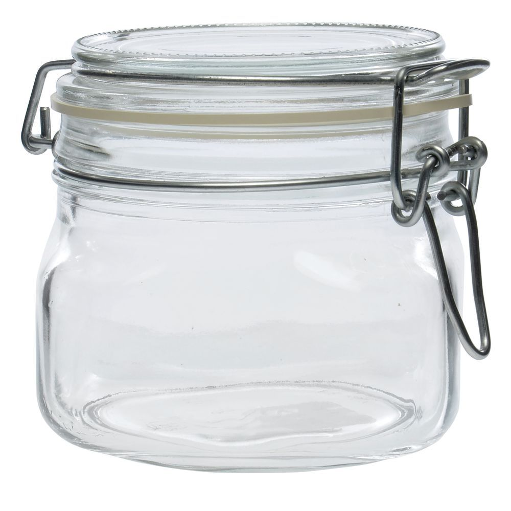 libbey 17 oz glass jar with clamp lid. Black Bedroom Furniture Sets. Home Design Ideas