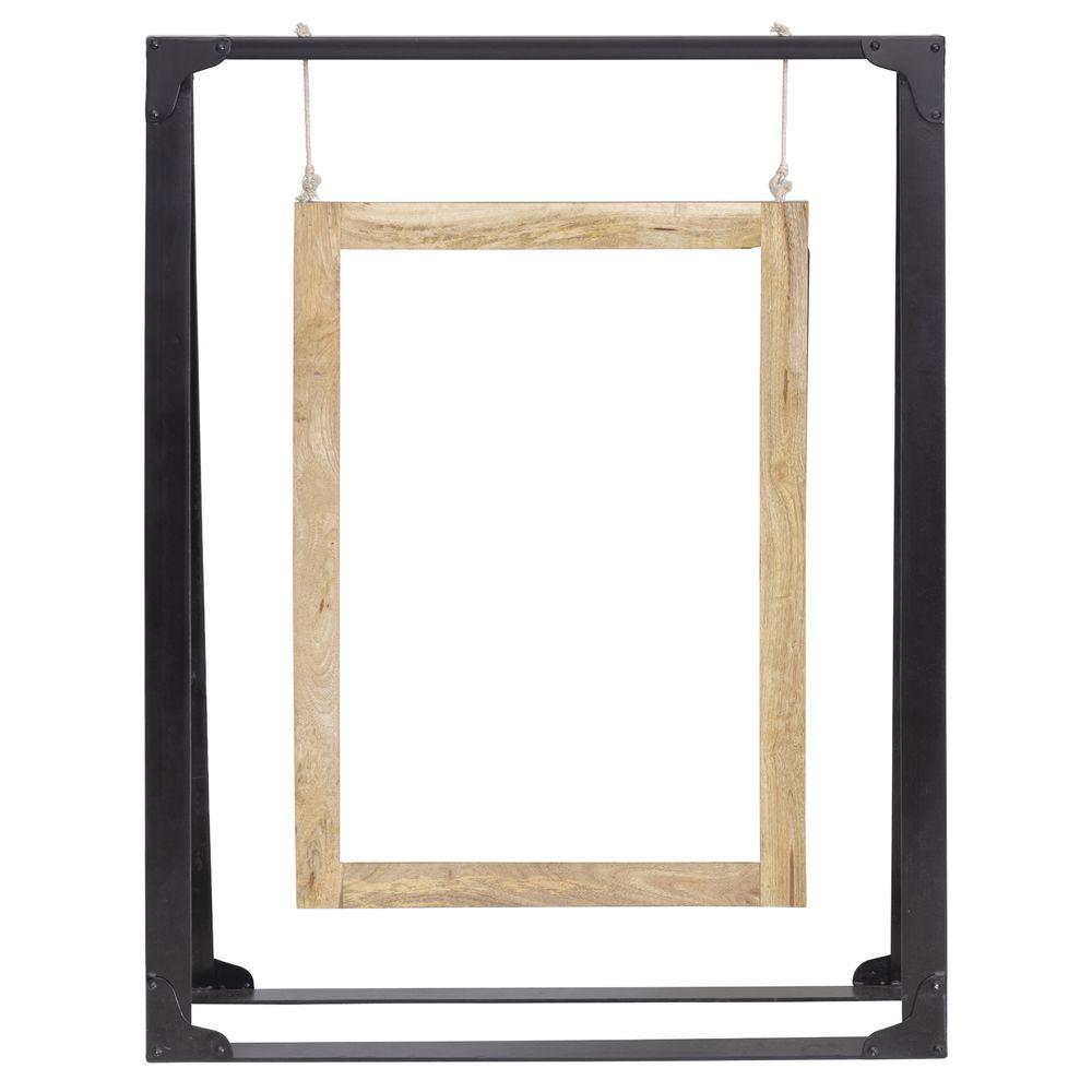 Expressly HUBERT® Mango Wood and Metal A-Frame Sign Holder
