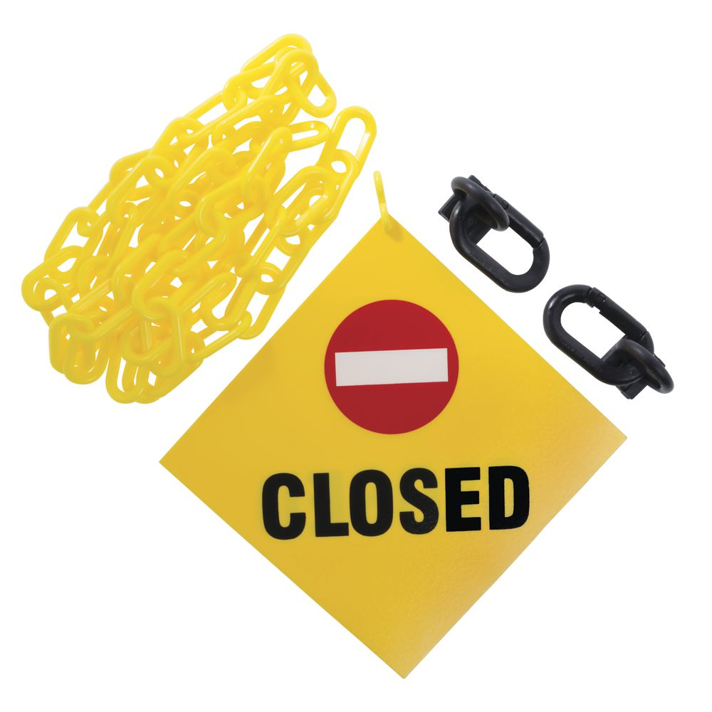 SIGN, HANGING, W/6' OF CHAIN, CLOSED