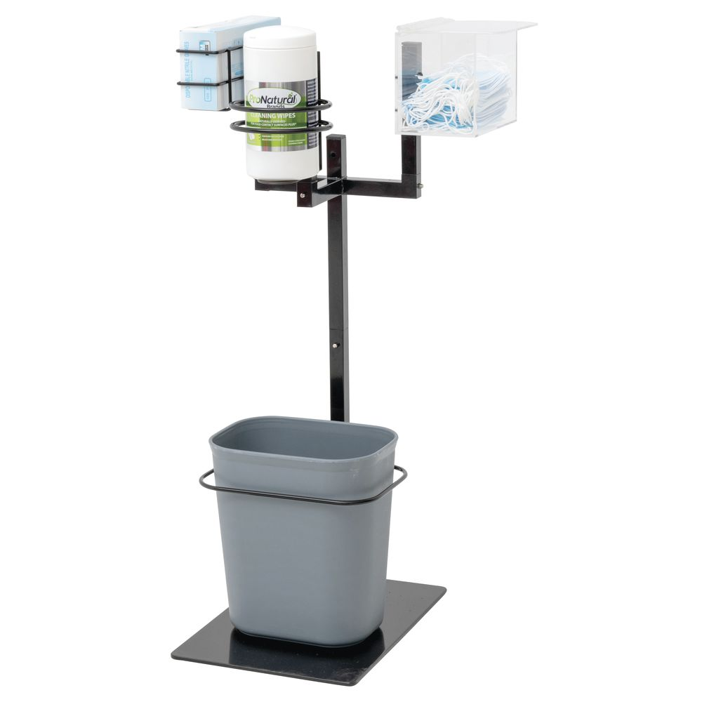 STAND, TRIPLE ARM AND TRASHCAN