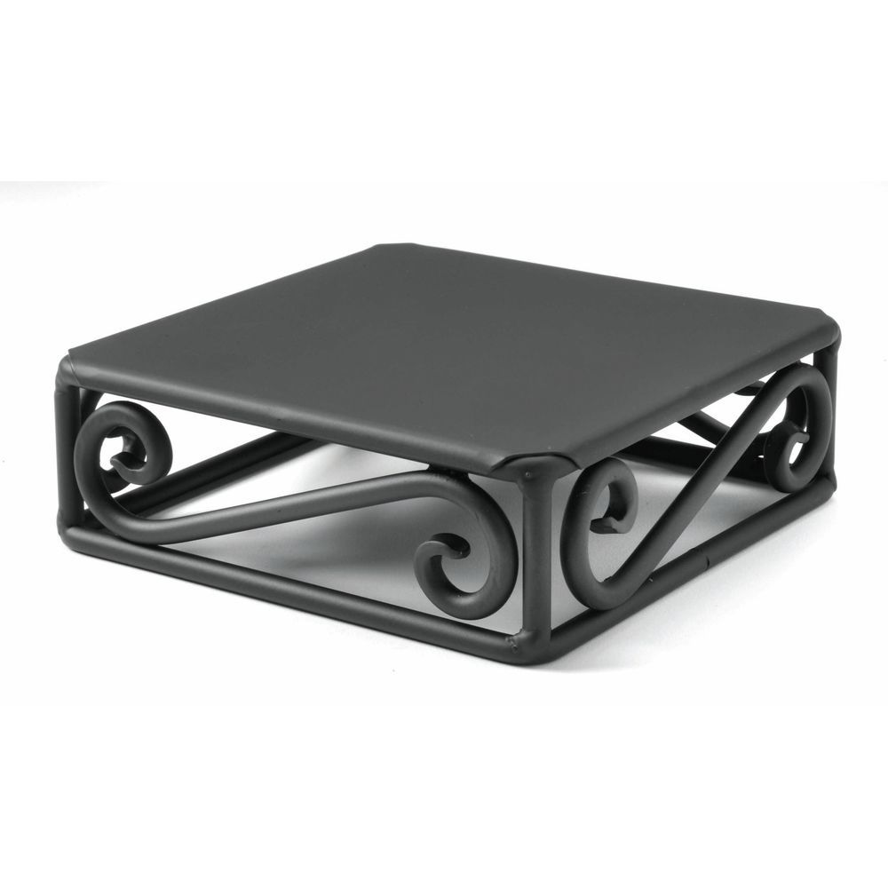"RISER CUBE, BLK.SCROLL STEEL, 6X6X2""H"