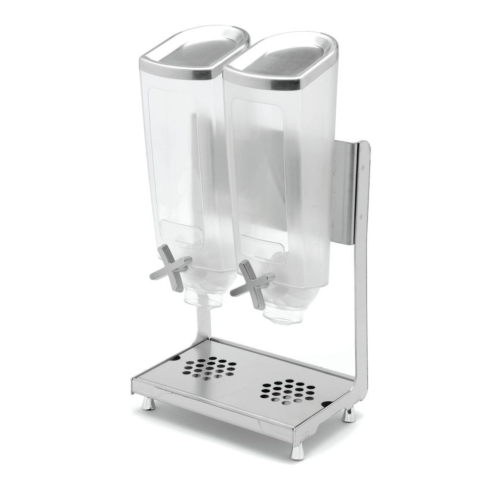 Double Cereal Dispenser Stainless Steel Stand