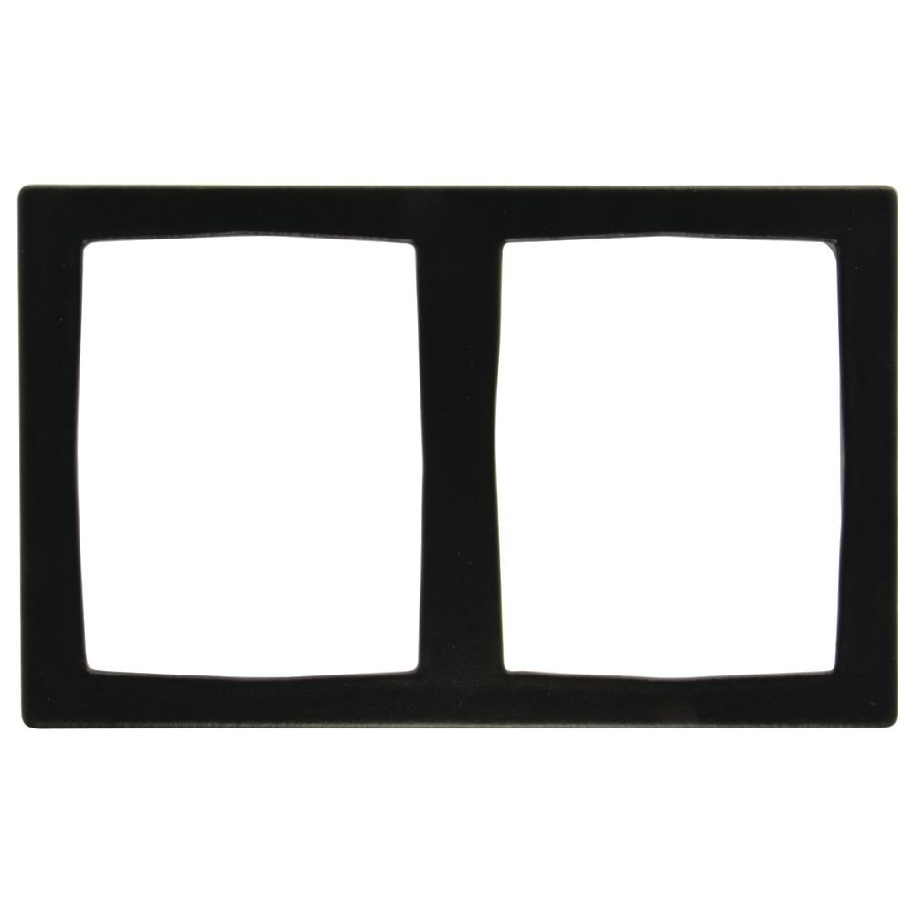 TILE, W/2 RECTANGULAR CUTOUTS, BLACK