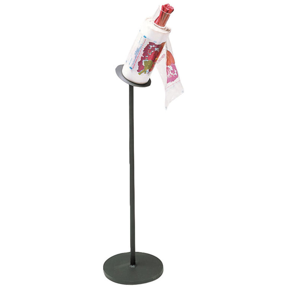 ANGLED FLOOR STAND BAG HOLDER W/TIE HOLD