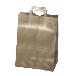 BAG, 1/6 BBL/70# NATURAL KRAFT, W/HANDLE