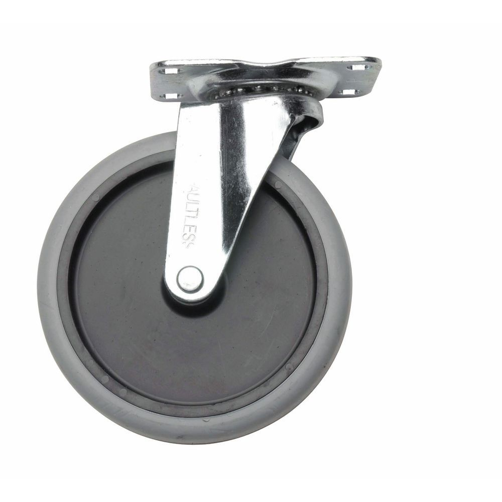 "Swivel Plate Caster Is 5"" In Stainless"