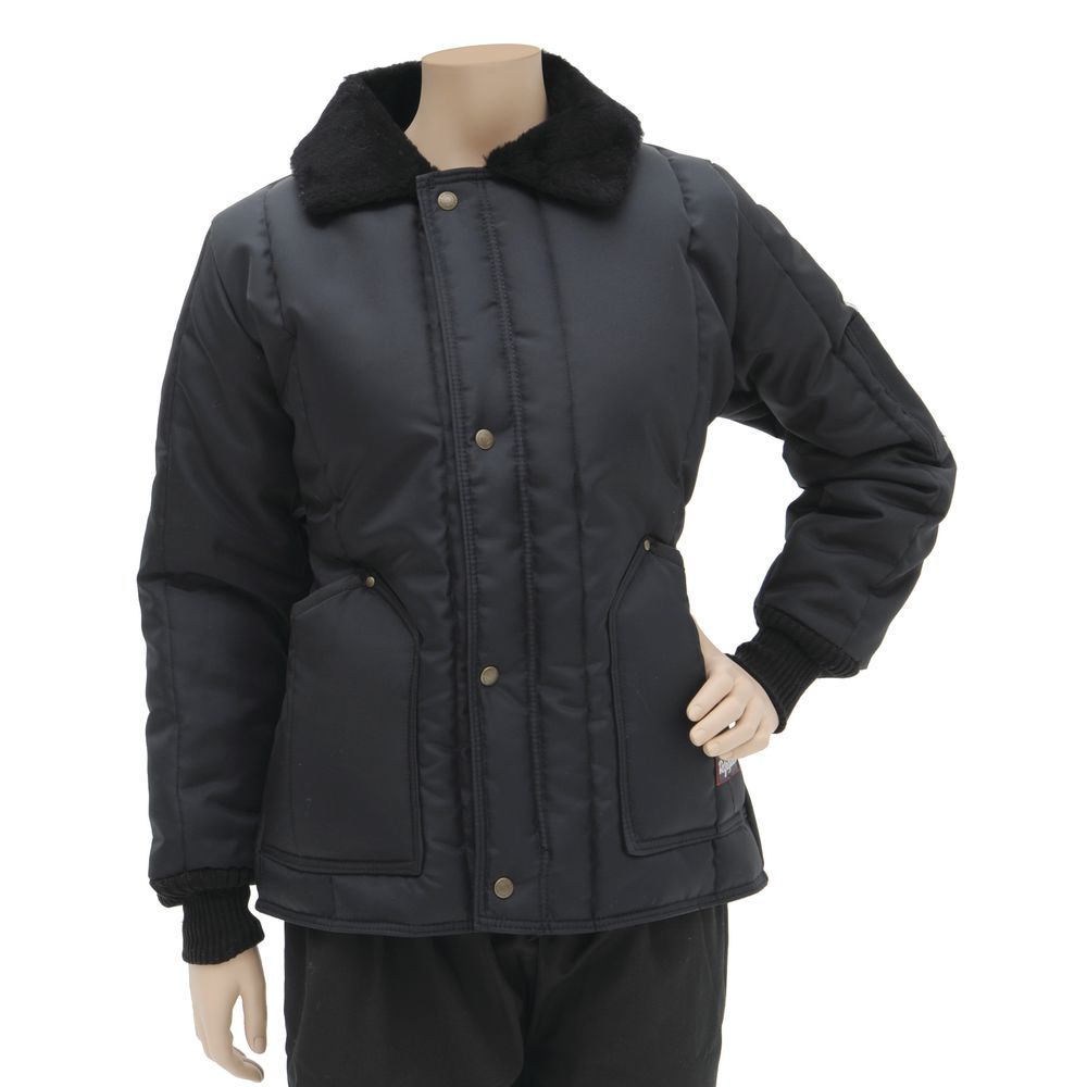 RefrigiWear Woman's Freezer Coat Navy Large|RefrigiWear Woman's Freezer Coat Navy Large