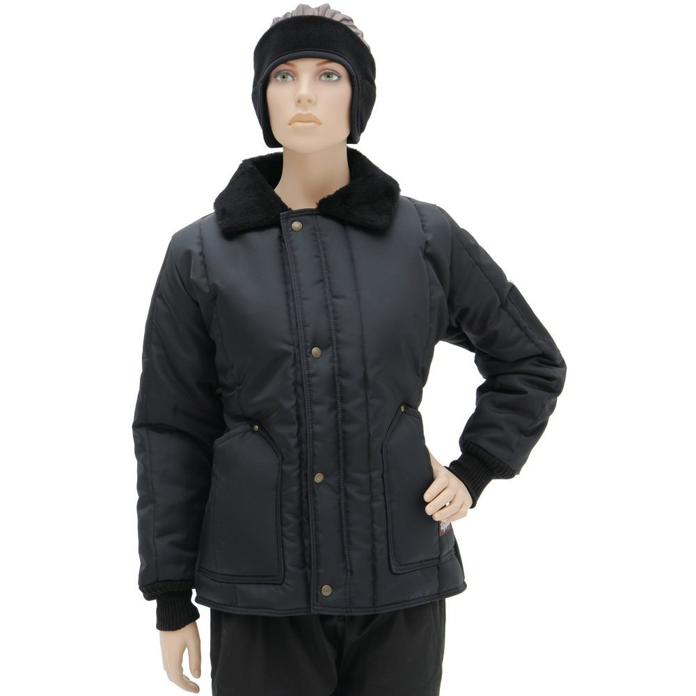 COAT, FREEZER, WOMEN'S, LARGE, NAVY