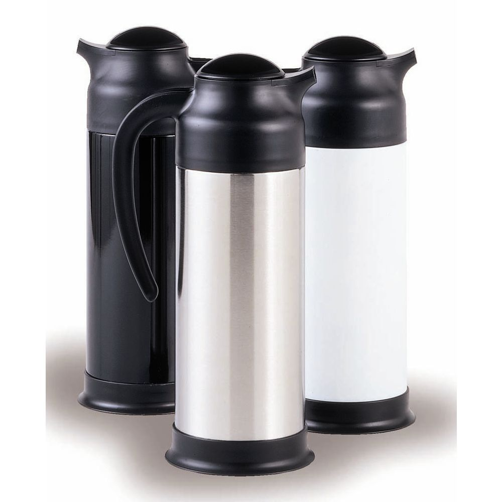 Service Ideas Stainless Steel Steelvac Carafe with Base 1 L