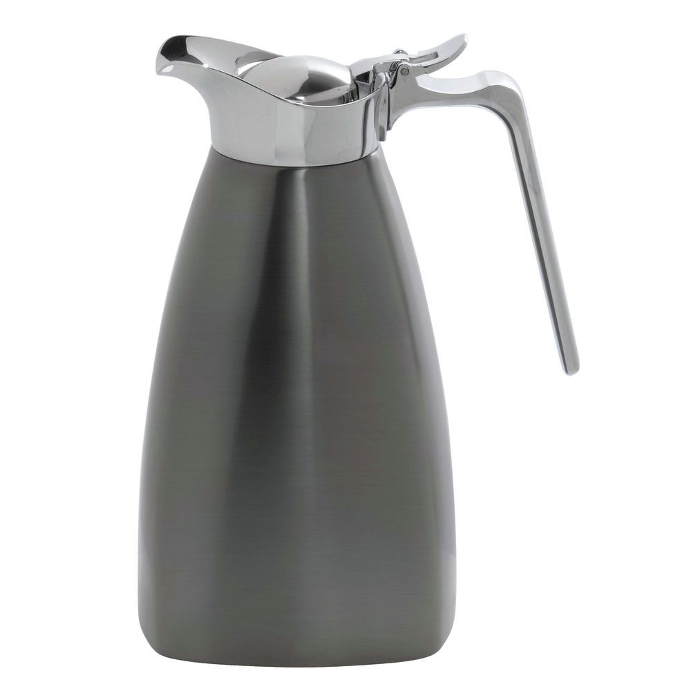 Service Ideas Square Stainless Steel Carafe Brushed Onyx 1L