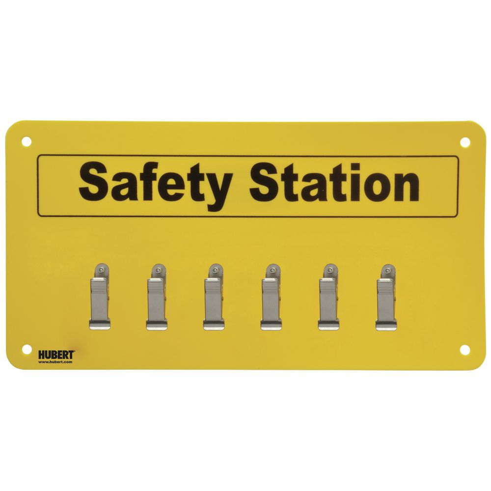 SAFETY STATION, 6-CLIP, W/MOUNTING HARDWRE