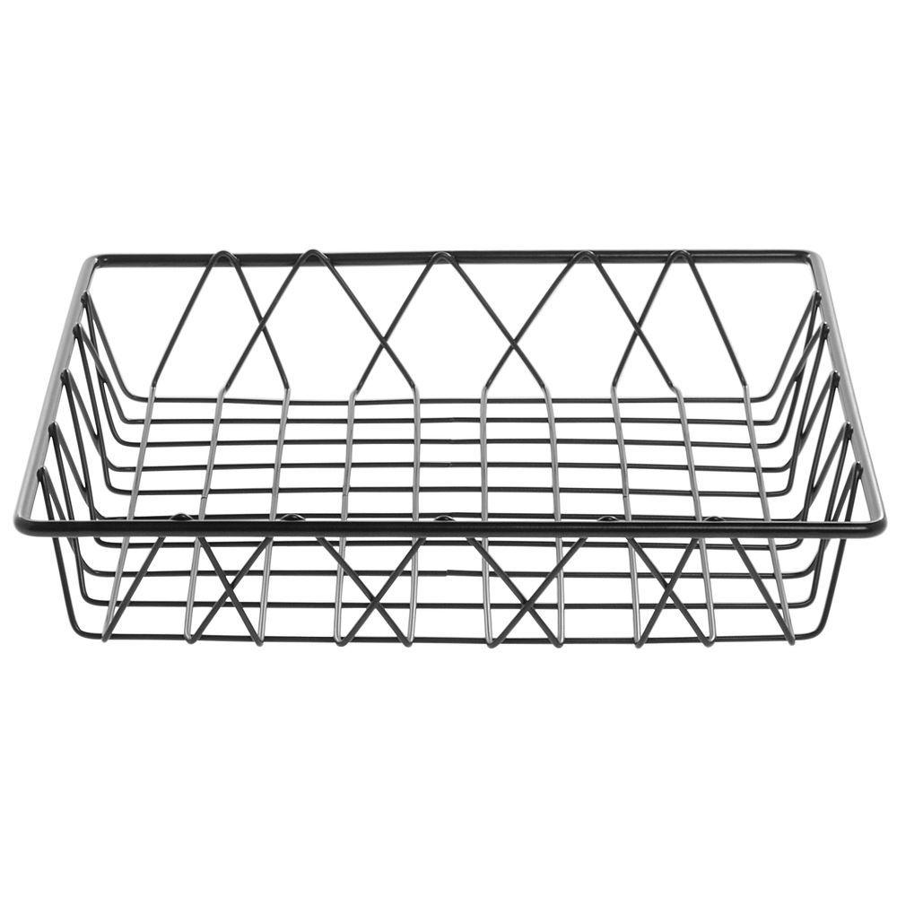 HUBERT® Square Nickel Powder-Coated Steel Wire Basket - 12\
