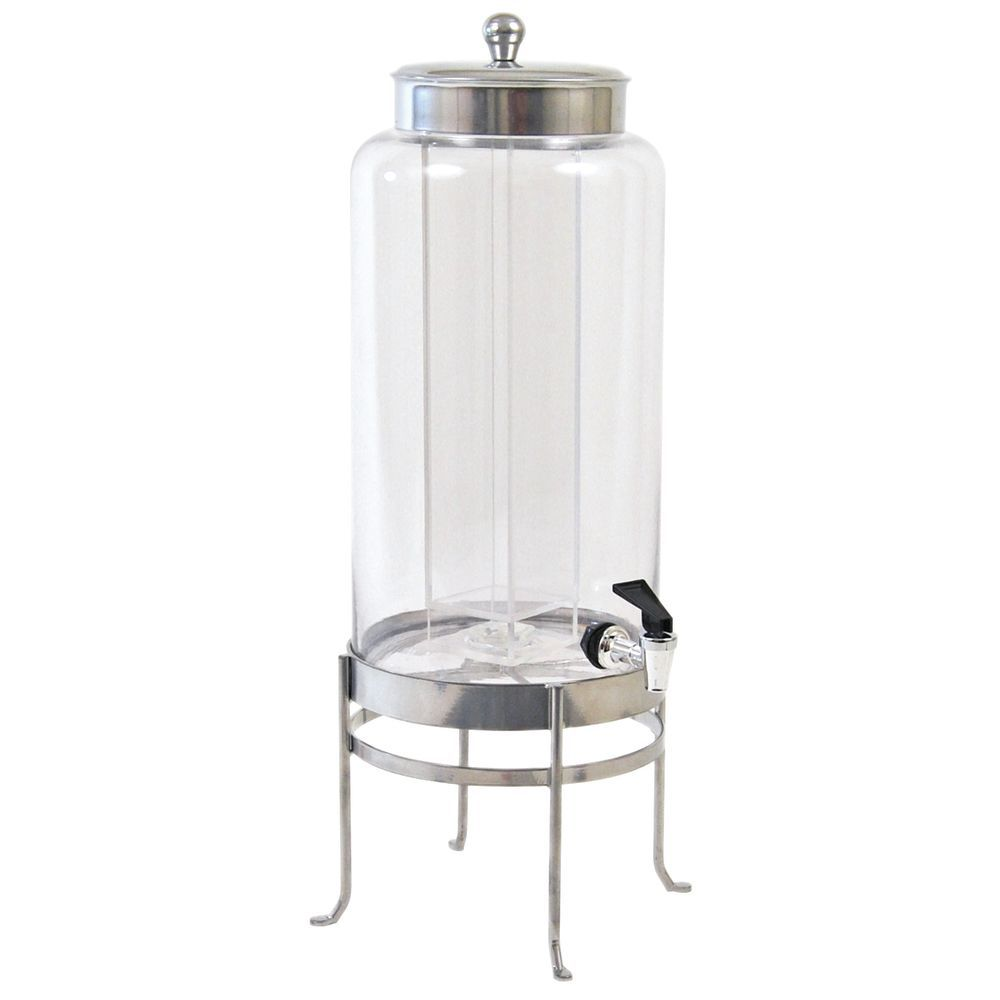 Cal Mil Soho Silver Drink Dispenser 3 gal