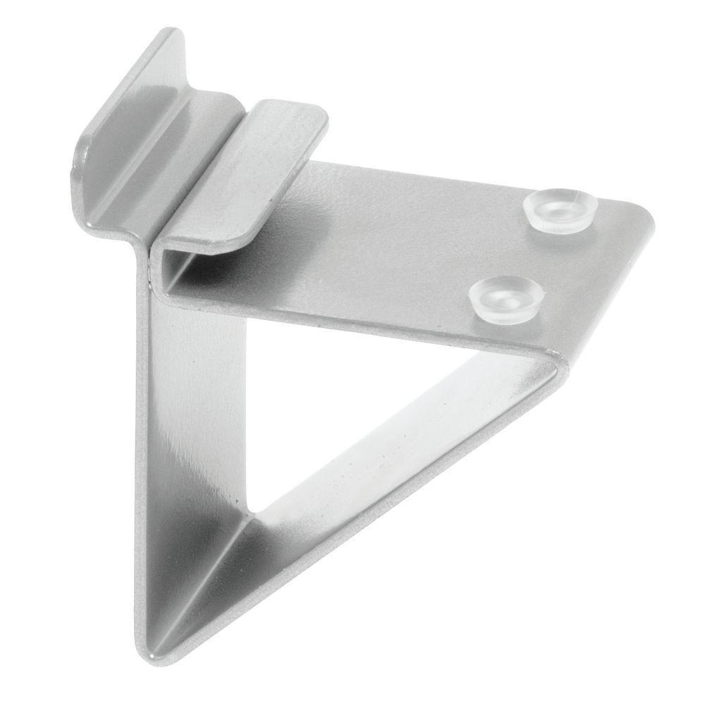 Slatwall Glass Shelf Brackets, Silver